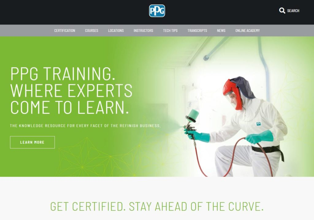 PPG launches new training website in Canada