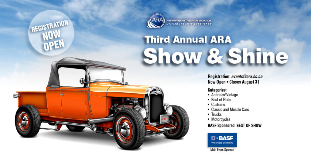 The ARA Accepts Entries to its Show and Shine Contest